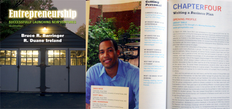 "Featured in one of the nation's top selling entrepreneurship textbooks ""Successfully Launching New Ventures"""