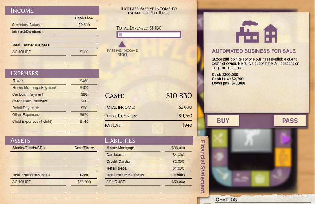 cashflow spiel online
