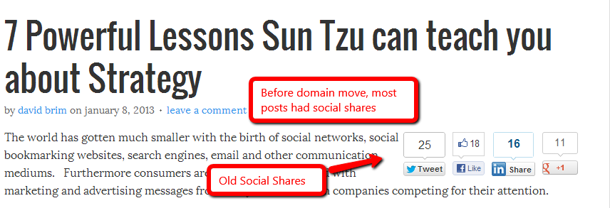 old social shares