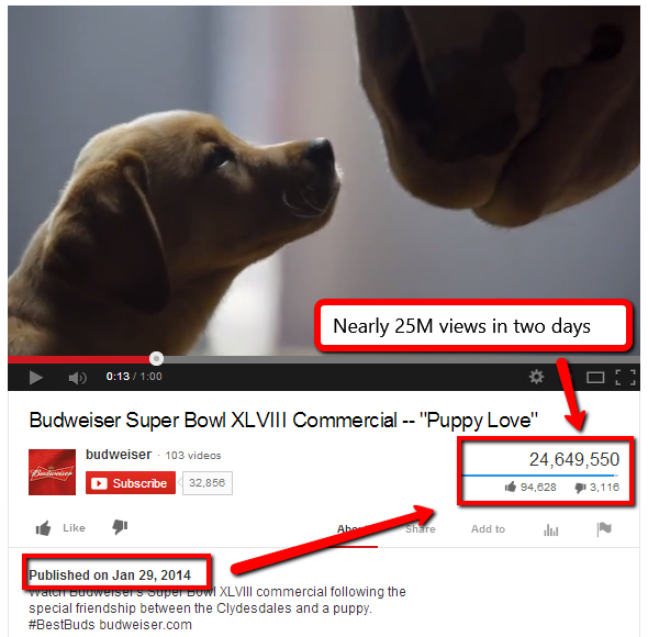 Puppy Love - 2014 - Superbowl Viral Video